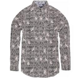 Brave Soul Idris långärmad mäns överallt mönstrad skjorta M Svar