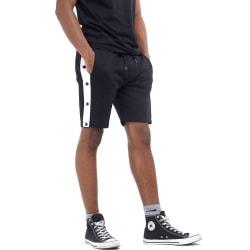Brave Soul Popper Detail Jersey Shorts S Svart / vit rand