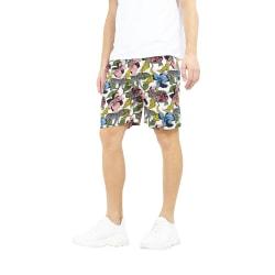 Brave Soul Psychedelic Zebra Print Shorts för herrar M Vit Multi