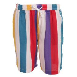 Brave Soul Rainbow Striped Retro Style Shorts för herrar M Flerf