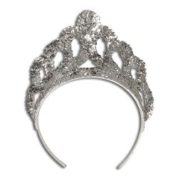 Bristol Novelty Unisex Sequinned Tiara One Size Silver