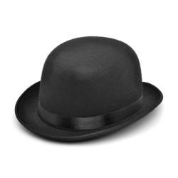Bristol Novelty Unisex vuxen svart filt bowler hatt One Size Bla Black One Size