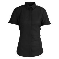 Brook Taverner Dam / Damer Soave Poplin-shirt med kort ärm 14 Sv