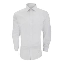 Brook Taverner Herr Alba Slim Fit Långärmad Easy Iron Work Shirt