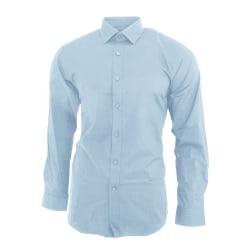 Brook Taverner Mens Pisa långärmad Slim Fit skjorta 15.5 Himmels