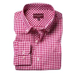 Brook Taverner Montana Gingham långärmad skjorta för män 16 UK R
