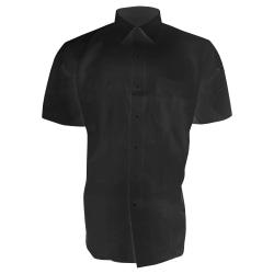 Brook Taverner Rosello kortärmad skjorta för herrar 15.5 Svart