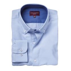 Brook Taverner Toronto långärmad Oxfordskjorta för män 17 UK Him