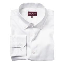 Brook Taverner Toronto Royal Oxford-skjorta för män 19in Vit