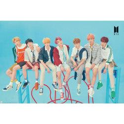 BTS Gruppblå affisch One Size Blå