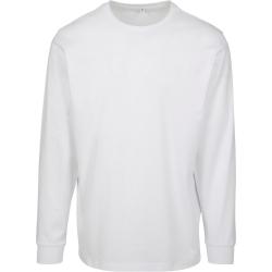 Build Your Brand Långärmad tröja för herrar XL Vit
