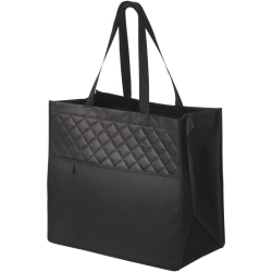 Bullet Cross Quilted Laminerad non-woven Carry-All Tote 36.5 x 2