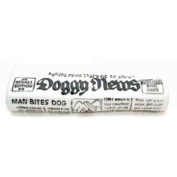 Caldex Klassisk hund tidning squeak leksak One Size Vit svart