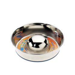 Caldex Klassisk Super Prem Non Tip Slow Feeder Dish 880ml Metall
