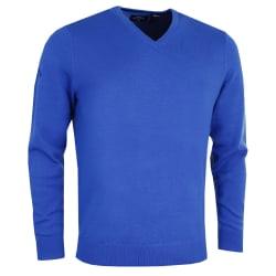Callaway Herr Ribbed V Neck Merino Sweater XXL Surfa blå