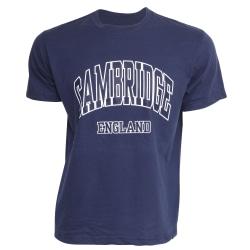 Cambridge England herrtryck 100% bomull kortärmad casual t-shirt