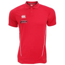 Canterbury Herr Team Dry Moisture Wicking Polo Shirt XXL Röd vit