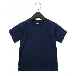 Canvas Barn T-shirt med unisex Crew Neck Age 3 Marin