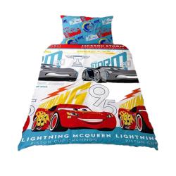 Cars 3 Lightning McQueen påslakan Double Blå / röd / grå