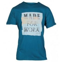 CAT Lifestyle T-shirt för herre Tabloid XXL Blå