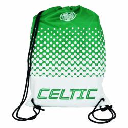 Celtic FC Officiell Fade Crest Design Gymbag One Size Grön / Vit