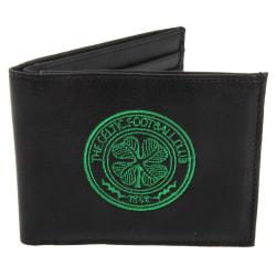 Celtic FC Officiell läderplånbok för män med broderad fotbollsva