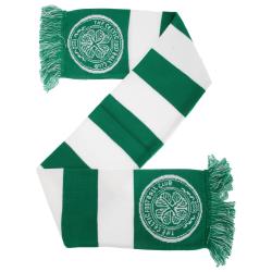 Celtic FC Officiella fotbollsupportrar Crest / Logo Bar Scarf On