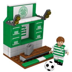 Celtic FC Omklädningsrum Byggstenar Set One Size Grön / Vit