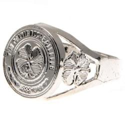 Celtic FC Silverpläterad Crest Ring Medium Silver