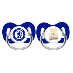 Chelsea FC Baby Official Soothers (Pack of 2) One Size Blå vit