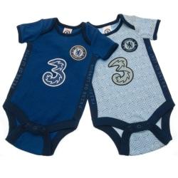 Chelsea FC Baby Pride Of London Bodysuit (2-pack) 9-12 Months Bl