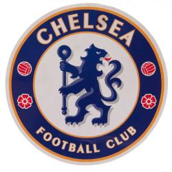 Chelsea FC Crest Sticker One Size Blå vit