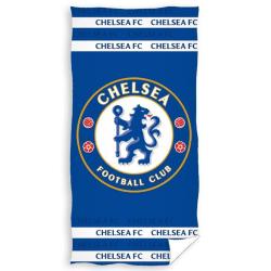 Chelsea FC Crest Velour Beach Handduk One Size Blå