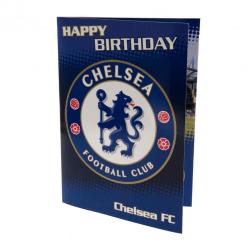 Chelsea FC Musikfödelsedagskort One Size Blå