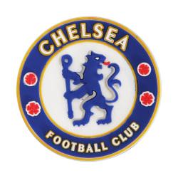 Chelsea FC Officiell fotbollsvapen gummimagnet One Size Blå / vi