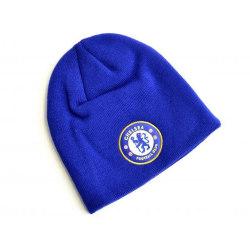Chelsea FC Stickad Crest Beanie One Size Kungsblått