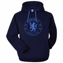 Chelsea FC Unisex vuxen crest hoodie M Marin