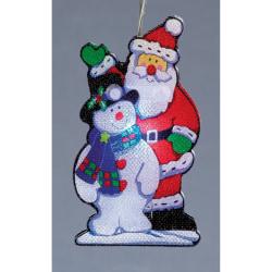 Christmas Shop Jultomten- och snögubblampor (uppsättning av 10)