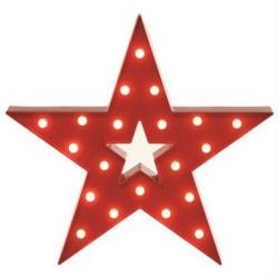 Christmas Shop Red Lit Star Decoration One Size Röd