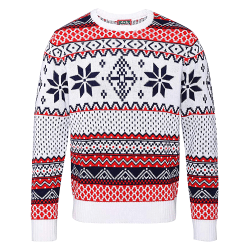 Christmas Shop Vuxna Nordic Jumper 2XL Vit