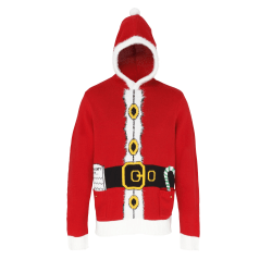 Christmas Shop Vuxna Unisex Hooded Santa Design-tröja / tröja M