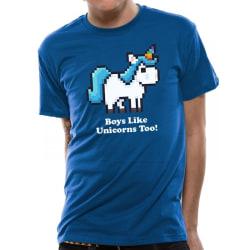 CID Originals Mens pojkar gillar enhörningar för! Design T-shirt