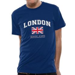 CID Originals Unisex vuxna London England design T-shirt XL Blå