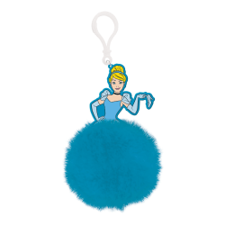 Cinderella Ballgown Pom Pom Nyckelring One Size Blå