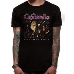 Cinderella Unisex vuxna Nobodys Fool Design T-shirt S Svart