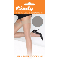 Cindy Kvinnor / damer 10 Denier Ultra Sheer Strumpor (1 par) One