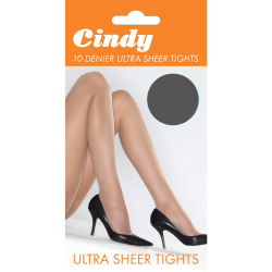 Cindy Kvinnor / damer 10 Denier Ultra Sheer Tights (1 par) Mediu