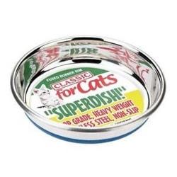 Classic Halkfri katt rostfritt stål Superdish 5in Silver
