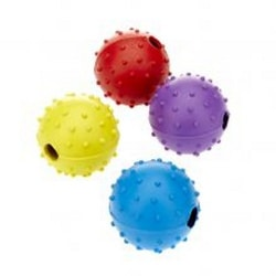 Classic Pimple Ball With Bell Dog Toy Large Kan variera