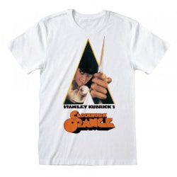 Clockwork Orange Unisex vuxen affisch T-shirt XL Vit